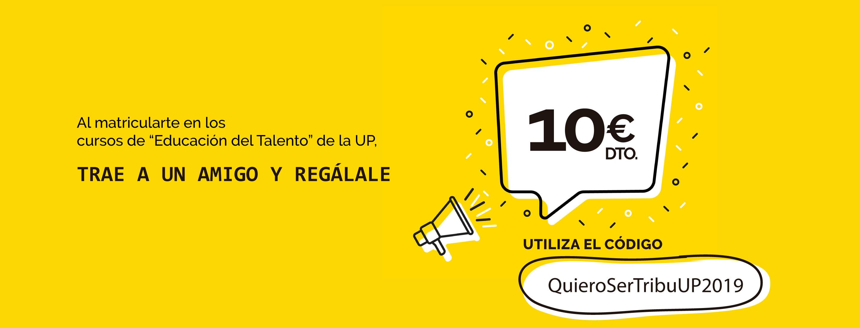 promocion 10 euros de descuento para la TribuUp